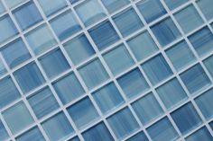 Sample - Blue Skies Hand Painted 1 x 1 Glass Mosaic Tiles for Kitchen Backsplash or Bathroom - - AmazonSmile