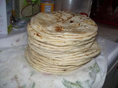BALEADAS - home made flour tortillas (spanish recipe)