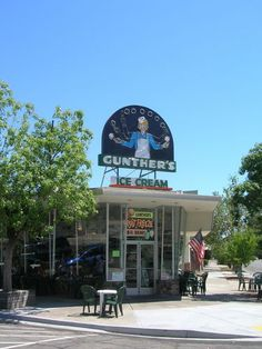 Gunther's Ice Cream established 1940 in Sacramento, CA.