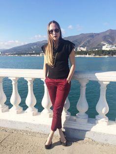 Wine Colored Pants / Бордовые брюки