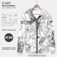 #monochromatic #blackandwhite #mesh #geometry #polygons #crystals #shapes #sharp #lines #chaos #abstract #modern #stylish #geometric #hoodie #unisex #liveheroes #liveheroesshop #digitalartcreations