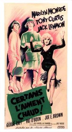 """Vintage Marilyn """"Some Like It Hot"""" movie poster"""