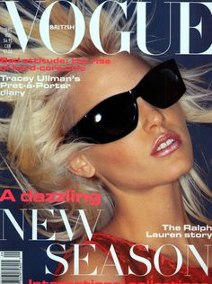 Nadja Auermann by Nick Knight Vogue UK September 1994