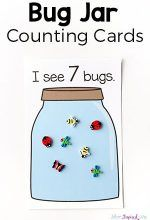 This bug jar counting game and the printable counting cards make learning to count fun and engaging for toddlers and preshcoolers. Your kids will love it! Counting Activities, Preschool Learning Activities, Fun Learning, Preschool Activities, Space Activities, Math Games, April Preschool, Preschool Names, Number Activities
