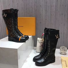 Louis Vuitton Boots, Designer Boots, Rubber Rain Boots, Walking, Chanel, Stuff To Buy, Shoes, Fashion, Shoes For Girls