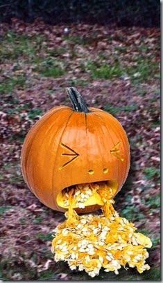 puking pumpkin   - I like this face better for the chip dip!!! lol This has to make you laugh.