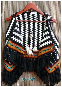 Feito à mão  4707 Gilet Crochet, Crochet Cardigan, Knit Crochet, Crochet Capas, Crochet Shawls And Wraps, Crochet Woman, Beautiful Crochet, Crochet Clothes, Mantel