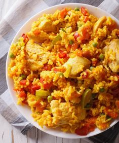 Paella, Fried Rice, Fries, Cooking, Ethnic Recipes, Food, Turmeric, Red Peppers, Kitchen