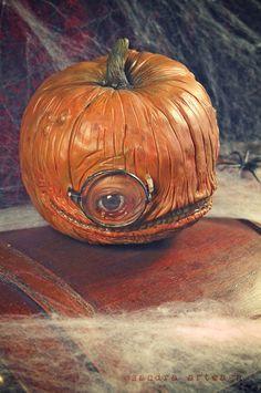 klauska kinskia, the intellectual pumpkin -  Art Doll ooak Halloween