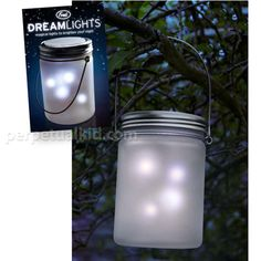 just like catchin' lightning bugs or fireflies in a jar......hang a few (solar powered) DREAMLIGHTS FLICKERING LAMPS around your garden and/or garden patios!!!!! :-)