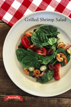 Get that summer grilled flavor for your salad! This Grilled Shrimp Salad is the perfect dish for a hot summer day. Learn how!