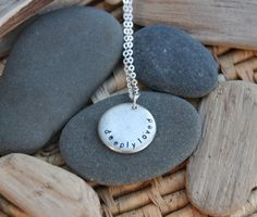 Let someone know that she is deeply loved. Yes. :: This necklace is customizable with your Soul Mantra phrase.