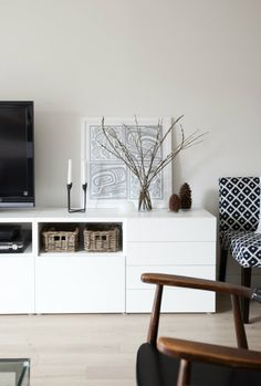 media console styling white