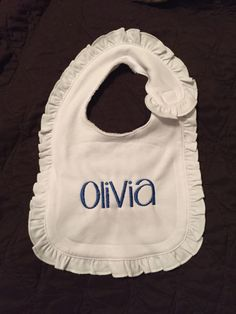 A personal favorite from my Etsy shop https://www.etsy.com/listing/256324314/monogram-baby-bib