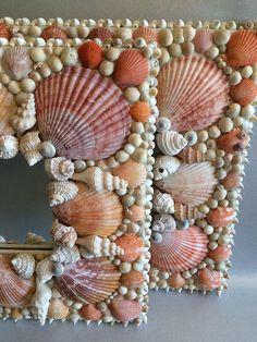 Handmade Seashell Mirror Decorative Shell Mirror Beach Decor Ocean Theme Coastal Style One-of-a-Kind Unique Art Birthday Wedding Gift Shells Seashell Art, Seashell Crafts, Beach Crafts, Diy Home Crafts, Seashell Frame, Seashell Projects, Sea Glass Crafts, Unique Centerpieces, Art Birthday