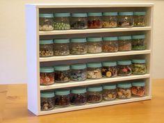 Baby food jar - craft storage