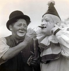 Cole Bros. Circus/ Otto Griebling and Kenneth Waite