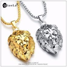 73cc1bd1fe1d 2017 Reggae Iced Out Hiphop Lion Necklace Pendant Hip Hop Gold Silver  Colors Long Chain Necklaces for