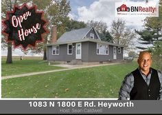 -->OPEN HOUSE<-- When: Sunday, November 12 from 10 am to 12 pm  Where: 1083 N 1800 East Road, Heyworth, IL  #bnrealty #kellerwilliamsbloomington #blono #heyworthhomes #heyworthil #kwbloomington #kw #heywothhouses