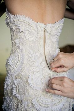 Dress; White; Embellishment