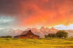 Thomas Moulton barn with red cloud - explore # 1 by Marvin Bredel, via Flickr