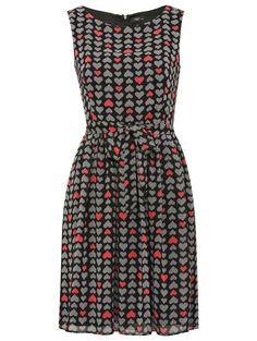 M Petite Petite heart print dress