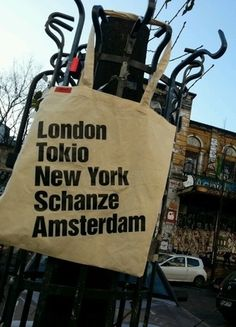 "Jutebeutel""Hamburg Schanze Weltniveau """