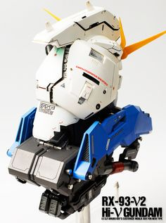 GUNDAM GUY: 1/24 RX-93-V2 Hi-V Gundam Head (Resin Kit) - Painted Build