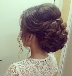 Bridal Hairdo, Bridal Hair And Makeup, Hair Makeup, Quince Hairstyles, Bride Hairstyles, Bridesmaid Hair, Prom Hair, Hair Upstyles, Quinceanera Hairstyles