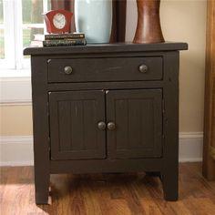 4397 93b Broyhill Furniture Attic Heirlooms Door Night Stand   Black