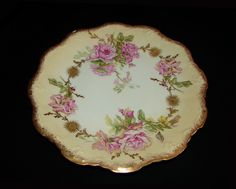 Coiffe Flambeau Limoges France Hand Painted Porcelain Cabinet Plate 1890