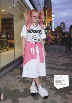 Yasuno Japanese Street Fashion, Tokyo Fashion, Harajuku Fashion, Tmblr Girl, Cute Fashion, Fashion Outfits, Women's Fashion, Grunge, Tokyo Street Style