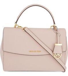 MICHAEL MICHAEL KORS Ava medium Saffiano leather satchel (Blush