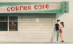 This the cutest scene EVER! I want a Corner Cafe. Love Movie, Movie Tv, Netflix Movies, Series Movies, Movies And Tv Shows, Peter K, Jean Peters, Corner Cafe, Jenny Han