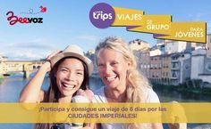Llévate esta increible ruta por EUROPAsi eres la personaque más difundes, comunicas y haces participar a tus amigos en el concurso.