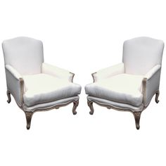 Pair Of Large Scale French Bergeres | From a unique collection of antique and modern bergere chairs at http://www.1stdibs.com/furniture/seating/bergere-chairs/