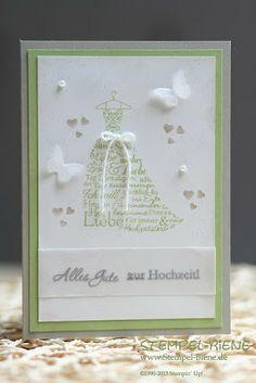 Stempel-Biene, Love & Laughter Stampin' Up!, Zum schönsten Tag im Leben Stampin' Up, Hochzeitskarte