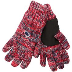 When the weather is frigid, keep your hands inside these New England Patriots gloves.