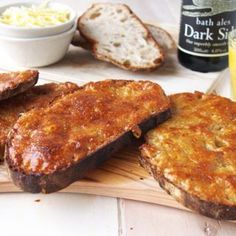 Cheese on toast is always a brunch fave! This Welsh Rarebit uses stout, mustard seeds and Worcestershire sauce for a malty savory edge Wrap Recipes, Milk Recipes, Brunch Recipes, Breakfast Recipes, Brunch Ideas, Breakfast Ideas, Vegetarian Recipes, Breakfast For A Crowd, Savory Breakfast
