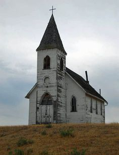 old church on a hill