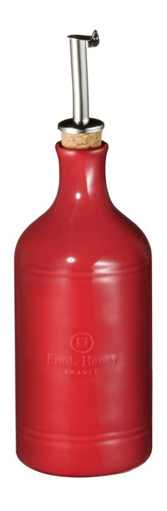 Dozownik do oliwy lub octu - purpurowy - Emile Henry - DECO Salon #oliveoil #vinegar #kitchenaccessories #gift #herbs #spices