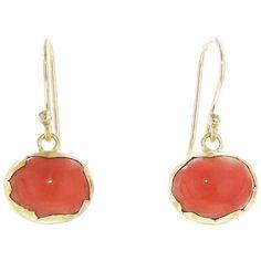 Annette Ferdinandsen Coral Egg Earrings ($825) found on Polyvore