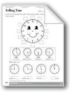 Telling Time to the Nearest Quarter-Hour. Download it at Examville.com - The Education Marketplace. #scholastic #kidsbooks @Karen Echols #teachers #teaching #elementaryschools #teachercreated #ebooks #books #education #classrooms #commoncore #examville