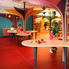 evanston public library childrens space educational environment fabrication install  reading play