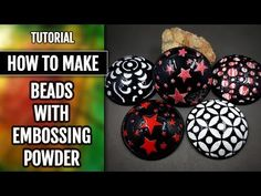 How to Make Beads by Using the Low-Temp Enamel or Embossing Powder! - YouTube
