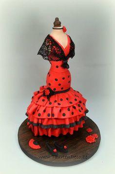 * Spanish dress with sugar veil