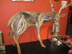 This driftwood deer was part of the 2008 Holiday display at Brookegreen Gardens in South Carolina