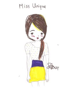 Check out this drawing Miss Fashionista made!!