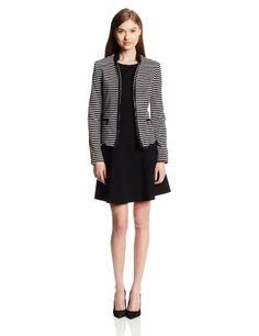 Anne Klein Women's Stripe Ponte Jacket #Fashionlve #Ponte #Jacket #Women
