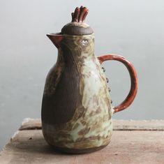 "Home of a Heart on Instagram: ""Тёмная неведомая птица, чёрная глина и глазури, ручная лепка. Уже обрела свой дом  #керамика #керамикаручнойработы #ручнаяработа"" Ceramic Pitcher, Beer, Ceramics, Tableware, Root Beer, Ceramica, Ale, Pottery, Dinnerware"